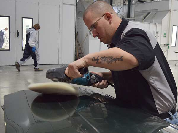 Auto Collision Repair slideshow -- student buffing