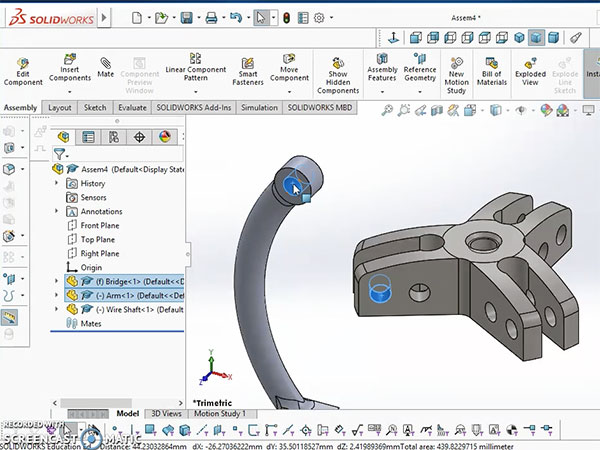 Screen grab of SolidWorks