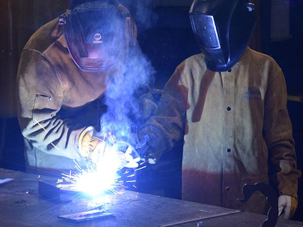 Two welders