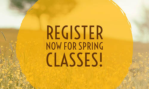Banner for Spring Classes